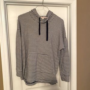 Navy and white stripe hoodie